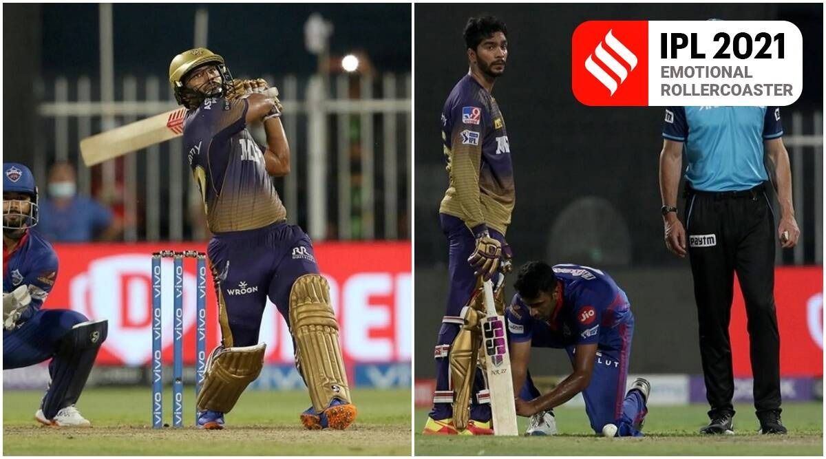 Dramatic ups and downs in the space of an over for Rahul Tripathi to take KKR home