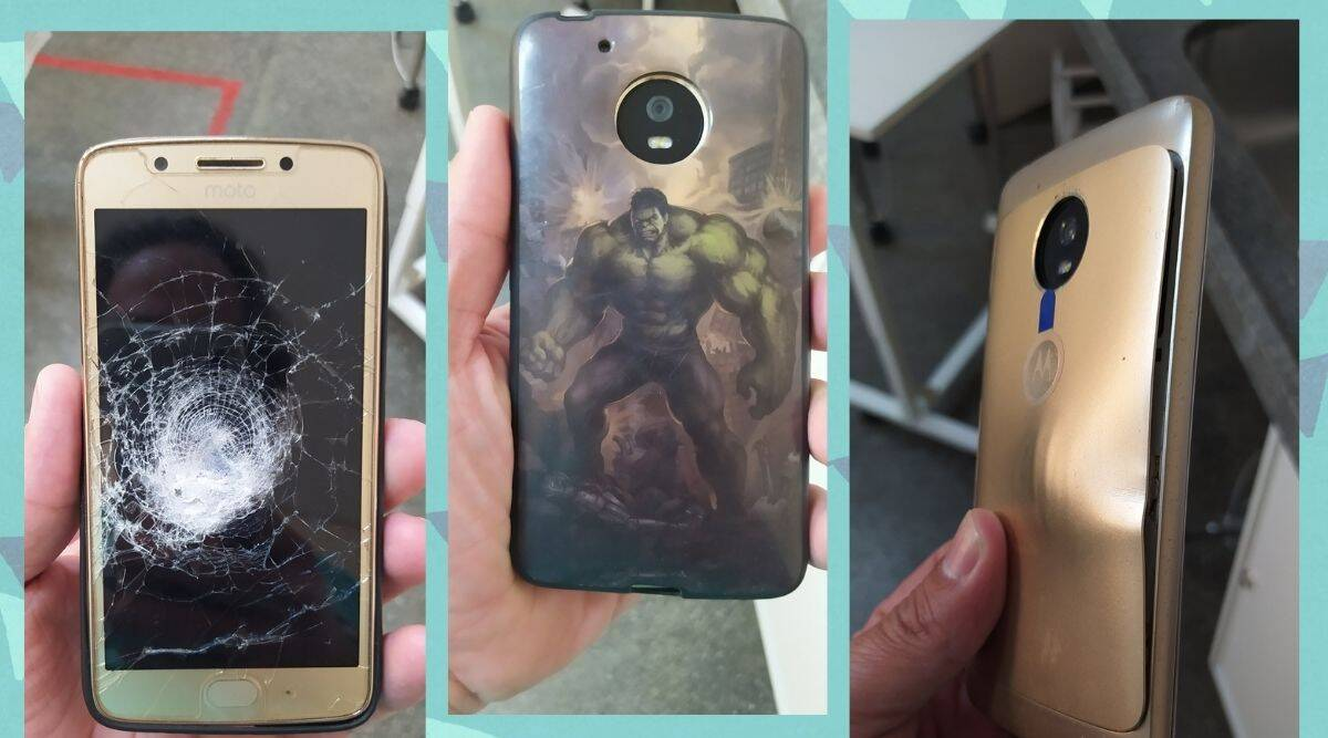 brazil man survived armed robbery phone with hulk cover, the hulk, phone with the HULK cover viral, twitter reactions, indian express, indian express news