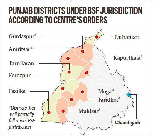 BSF jurisdiction, Border Security Force, BSF in Punjab, BJP in West Bengal, BSF jurisdiction extension explained, Indian Express